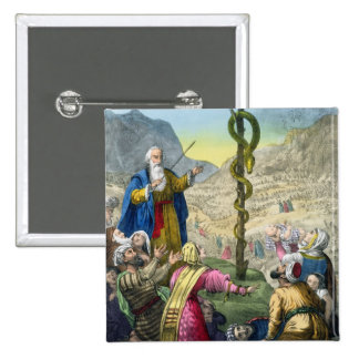 La serpiente descarada, de una biblia impresa por  pin cuadrada 5 cm