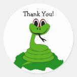 La serpiente le agradece pegatina