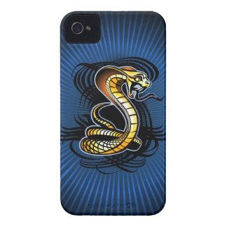 La serpiente pega el caso del iPhone 4 Case-Mate iPhone 4 Carcasa