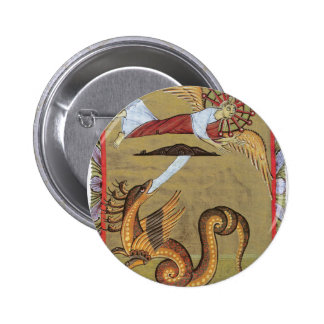 La serpiente Siete-dirigida de la revelación Pin Redondo 5 Cm