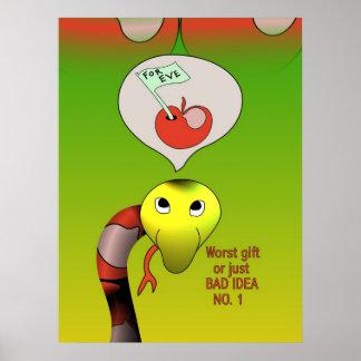La serpiente tiene una mala idea póster