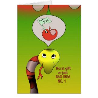 La serpiente tiene una mala idea tarjeta de felicitación