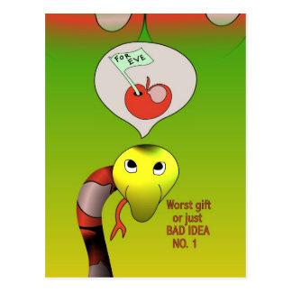 La serpiente tiene una mala idea tarjeta postal