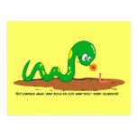 La serpiente y el gusano postales