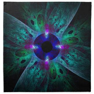 La servilleta del arte abstracto del ojo
