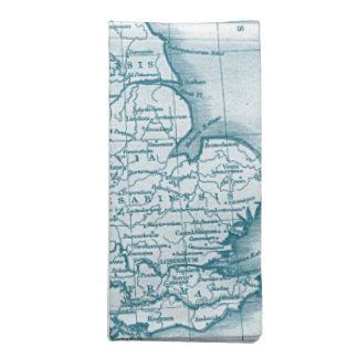 La servilleta del mapa de la antigüedad del Viejo