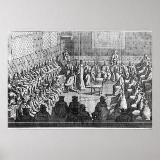 La sesión del parlamento presidió por el regente poster