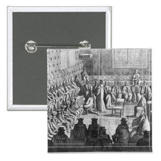 La sesión del parlamento presidió por el regente pin cuadrada 5 cm