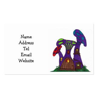 La seta púrpura contiene tarjetas de visita