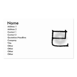 La sexta tarjeta del perfil de la serpiente plantillas de tarjetas de visita
