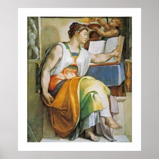 la sibila de Erythrean Póster