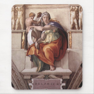 La sibila délfica - capilla de Sistine del fresco Alfombrillas De Ratón