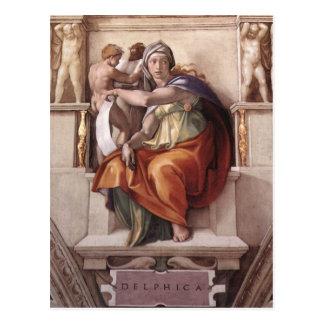 La sibila délfica - capilla de Sistine del fresco Postales