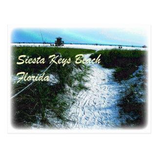La siesta cierra la playa, ropa de la Florida Tarjeta Postal