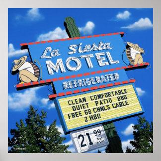 La Siesta Motel Poster Print