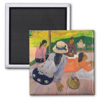 La siesta - Paul Gauguin Imán Para Frigorifico