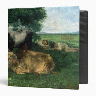 La Siesta Pendant la saison des foins , 1867, 3 Ring Binder