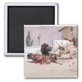 La Siesta: Scene in the Eastern Pyrenees, 1872 (w/ Magnet