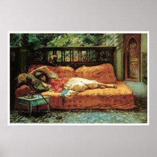 La siesta (tarde en sueños), 1878 póster