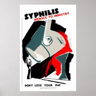 La sífilis es una amenaza WPA 1940 Poster