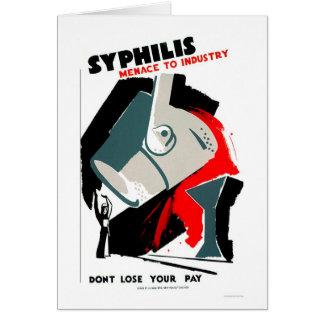 La sífilis es una amenaza WPA 1940 Tarjeta De Felicitación