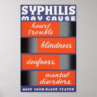 La sífilis puede causar el poster