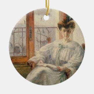 La Signora Massimino, 1908 (oil on canvas) Ceramic Ornament