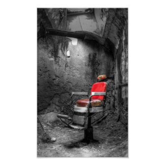 La silla de peluquero impresiones