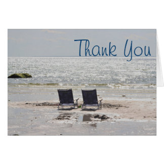 La silla de playa le agradece cardar tarjeta de felicitación