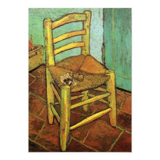 La silla de Vincent con su tubo de Vincent van Invitaciones Personales