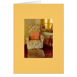 La silla del bizcocho borracho tarjeta de felicitación