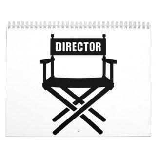 La silla del director calendario de pared
