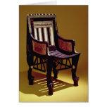 La silla del niño, de la tumba de Tutankhamun Felicitación