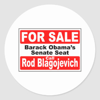 La silla del Senado de Obama para la venta Pegatina Redonda