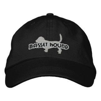 La silueta Basset Hound bordó el gorra Gorras De Beisbol Bordadas