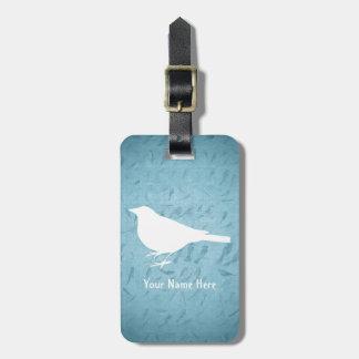 La silueta blanca del cuervo - añada el nombre etiqueta de equipaje