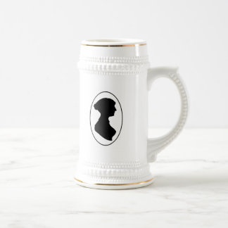 La silueta de Jane Austen Jarra De Cerveza