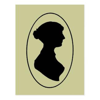 La silueta de Jane Austen Postal