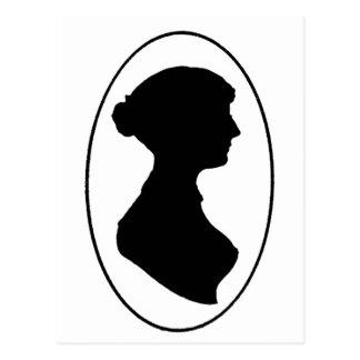 La silueta de Jane Austen Postales