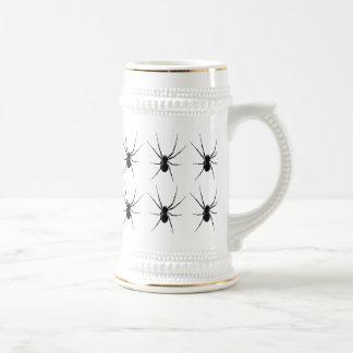 La silueta de la araña jarra de cerveza