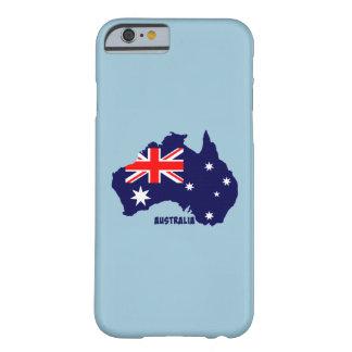 La silueta de la bandera de Australia crea para Funda Barely There iPhone 6