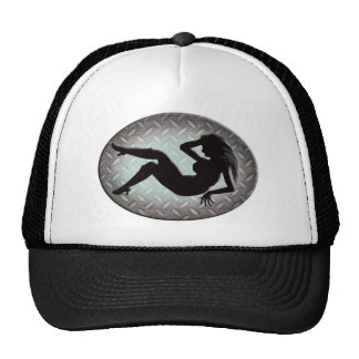 la silueta de la mujer gorras de camionero