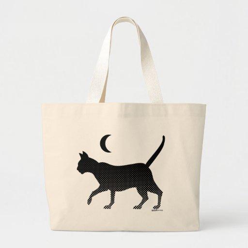 La silueta de un gato bajo la luna bolsas
