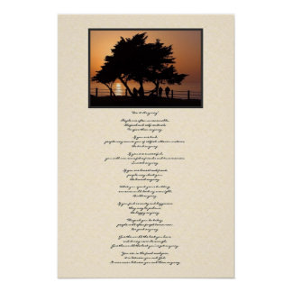 La silueta del árbol lo hace de todos modos posters