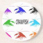 la silueta del cangrejo posavasos personalizados