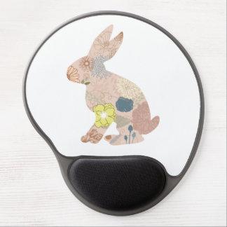 La silueta del conejito de las liebres del conejo  alfombrillas de raton con gel