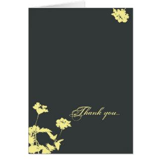 La silueta del flor le agradece tarjeta de felicitación