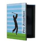 """La silueta del golfista """"añade su conocido """" iPad fundas"""