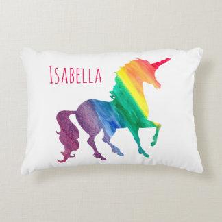 La silueta del unicornio del arco iris de la