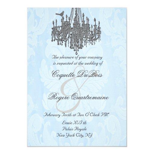 La Silver Sparkle 5 x 7 Chandelier Invitations